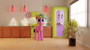 WIP Const in her kitchen