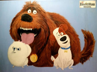 The Secret Life of Pets (acrylic paint) by sagatti