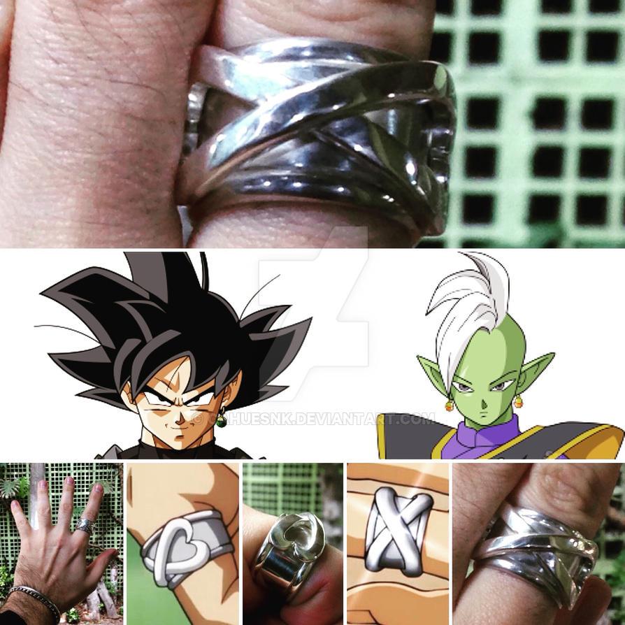 Anel do Tempo em Prata 950 de Goku Black e Zamasu by cahuesnk