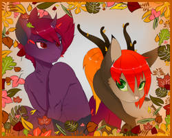 An autumn gift card design..thingy... by DoS-Draw