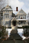 Blue-Yellow Victorian Home