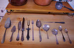 Tarnished Silver Ant. Utensils