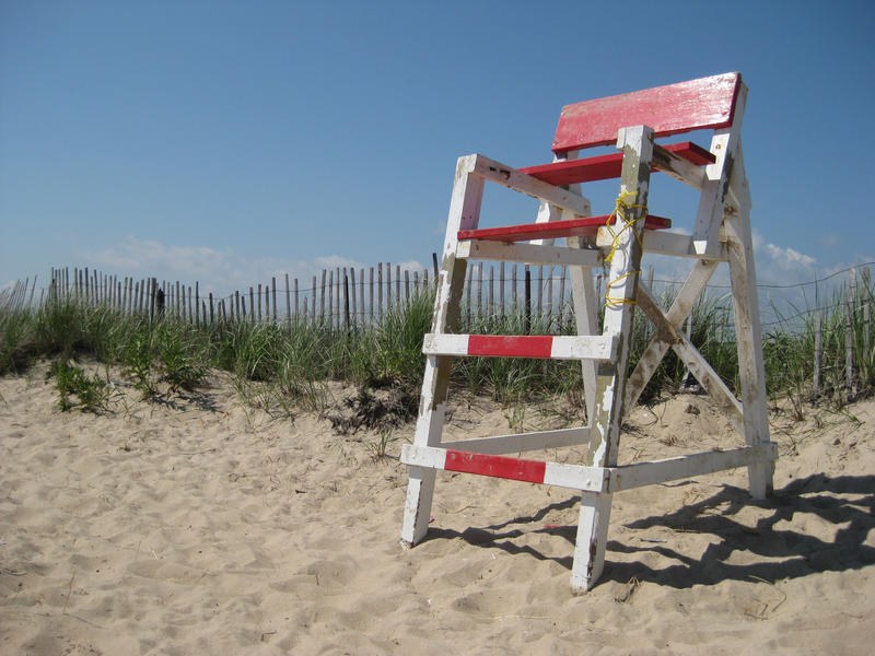 lifeguard chair on beach by
