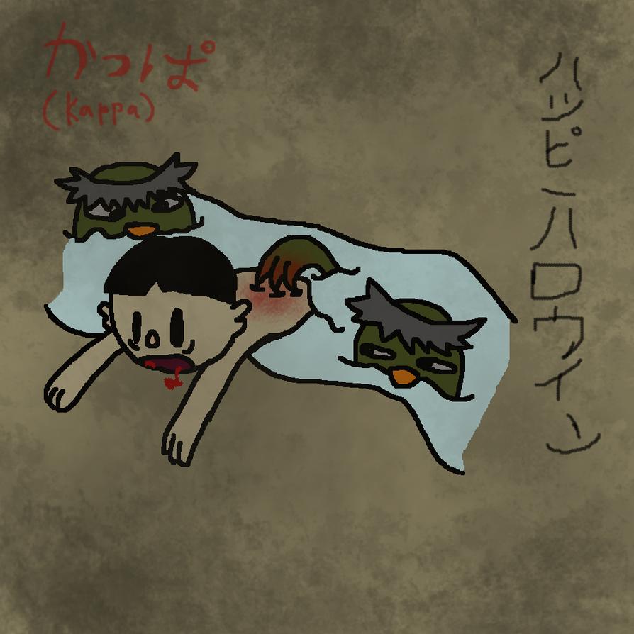 Goretober day 3- Kappa (drowning)    by TheSkyFox03