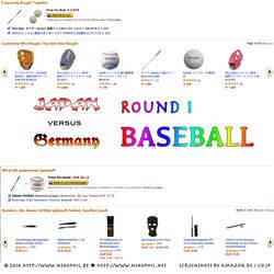 Japan vs Germany: Baseball by madcury