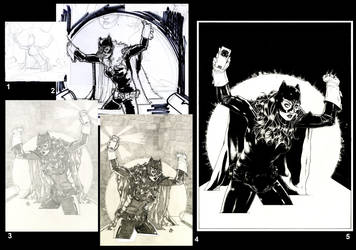 Batgirl's Process W.I.P by ThomasBlakeArtist