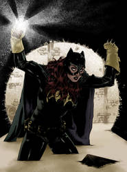Batgirl In The Sewers by ThomasBlakeArtist