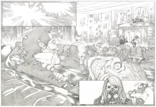 Black Canary's Trial Pencil - Page 4 and 5