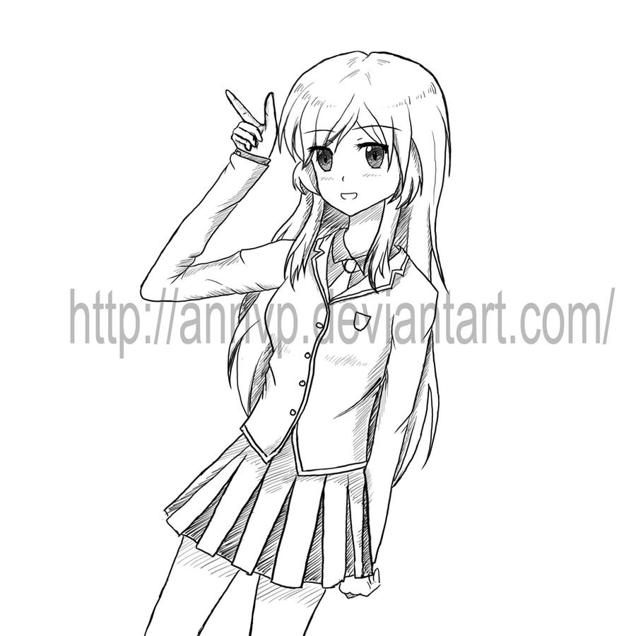 Line Art Uniform : Sketchy sketch school uniform by annvp on deviantart