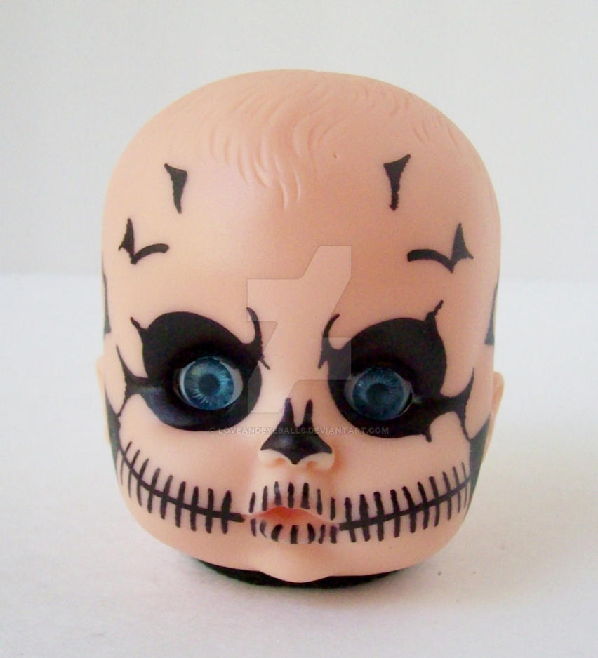 Creepy Skull Baby Doll Head Light By Loveandeyeballs ...