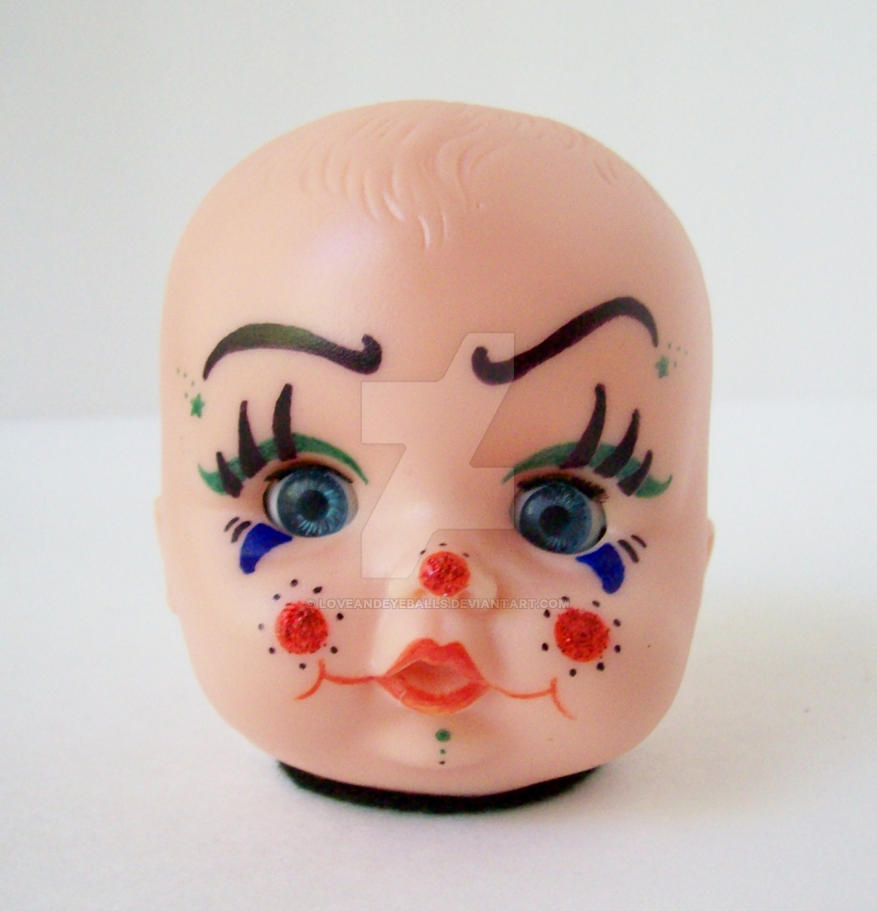 Creepy Cute Clown Baby Doll Head Light By Loveandeyeballs ...