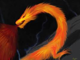 Flaming Dragon by xlilDark