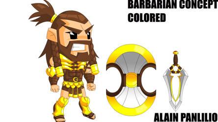 chibi barbarian by AlainPanlilio