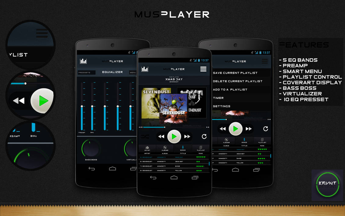 MusPlayer Complete Interface