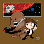 Star Wars Han and Chewie Chibi