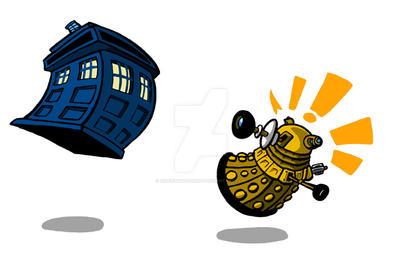 TARDIS vs DALEK by Sideways8Studios