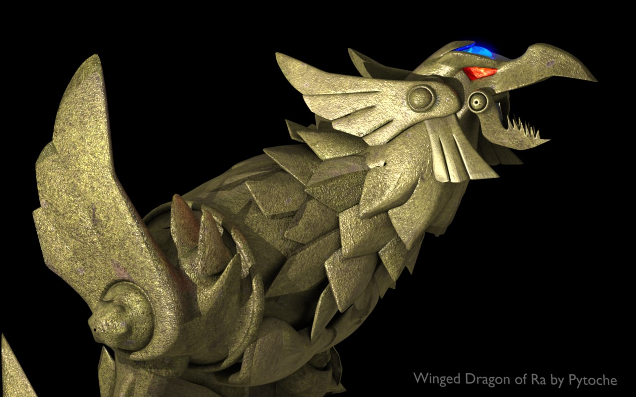 Winged Dragon of Ra by pytoche