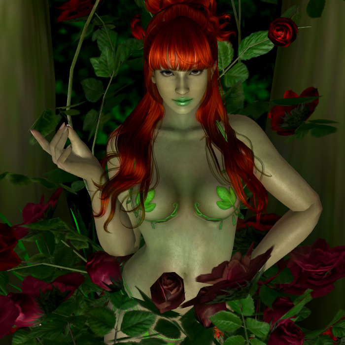 Poison Ivy in roses by MsLiang