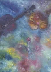 gatto violino e rosa by maxappeal