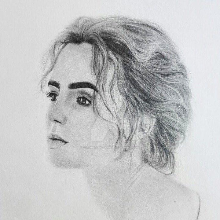 Lily Collins sketch by VirginiaBovyn