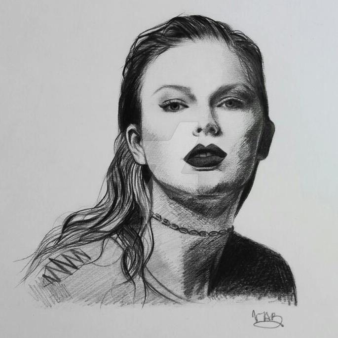 Taylor Swift Reputation sketch by VirginiaBovyn
