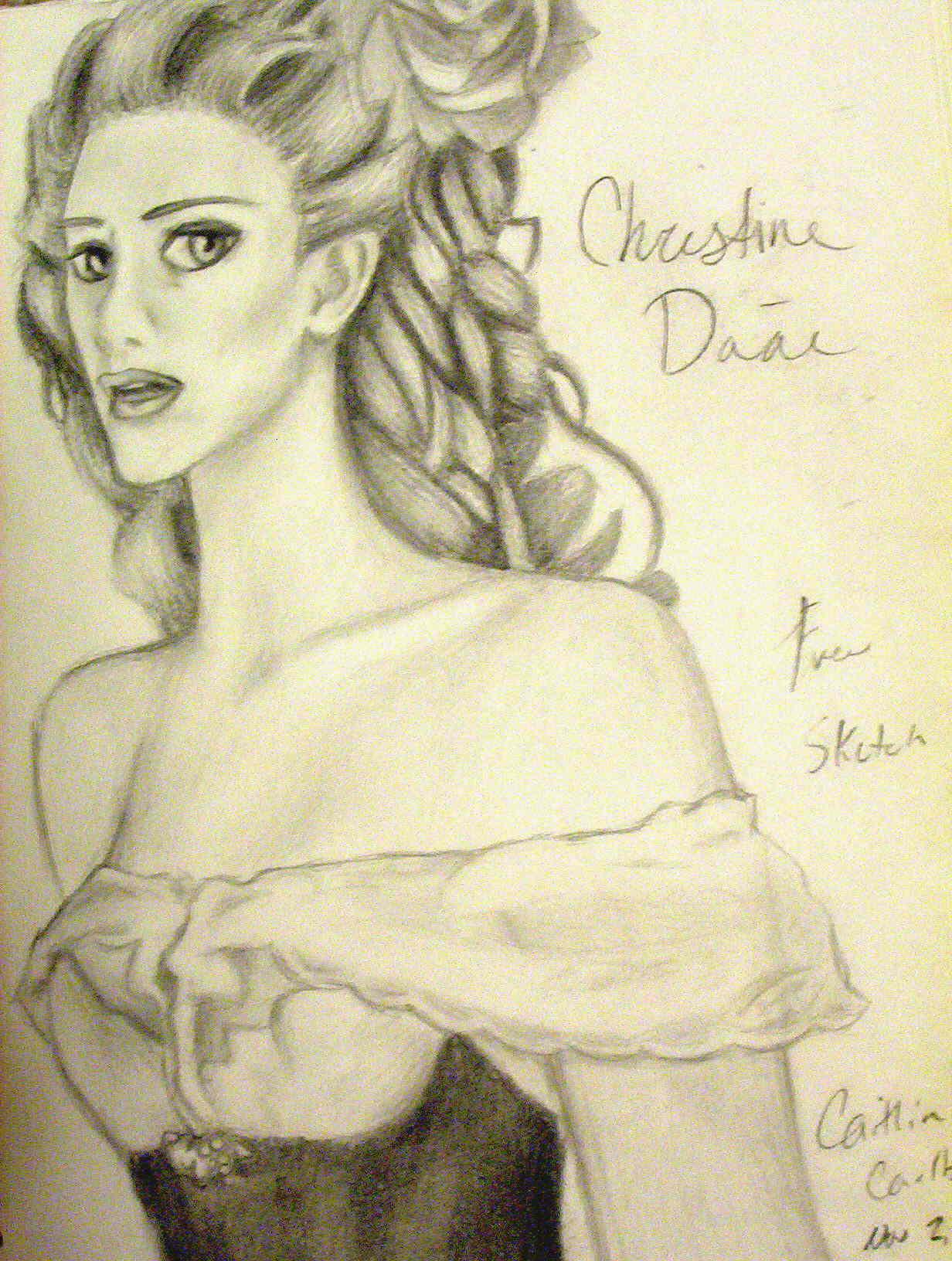 Christine Daae-- Free Sketch