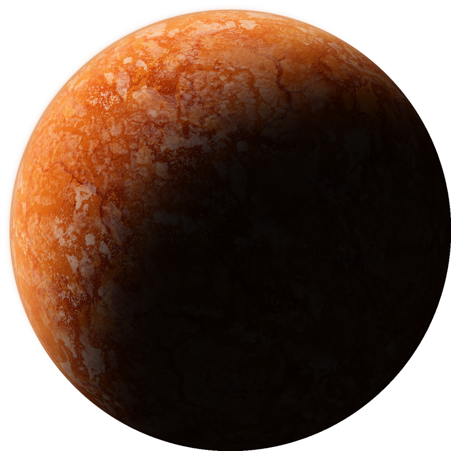 Icy rocky orange planet by ho brah on deviantart for Plante orange