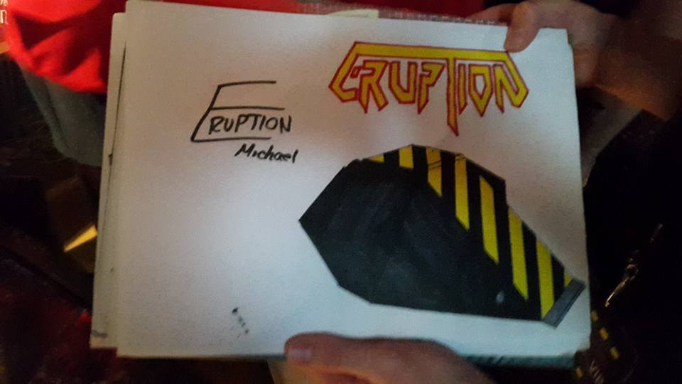 Robots Live! Eruption art signed by Micheal Oats by sgtjack2016