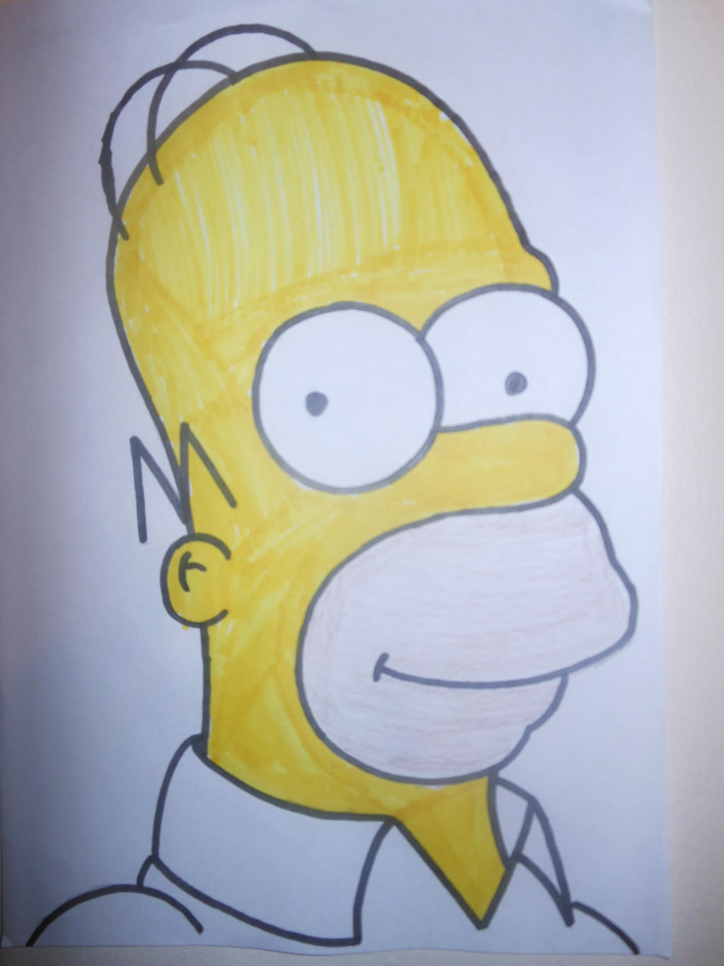 Homer Simpson's head by sgtjack2016