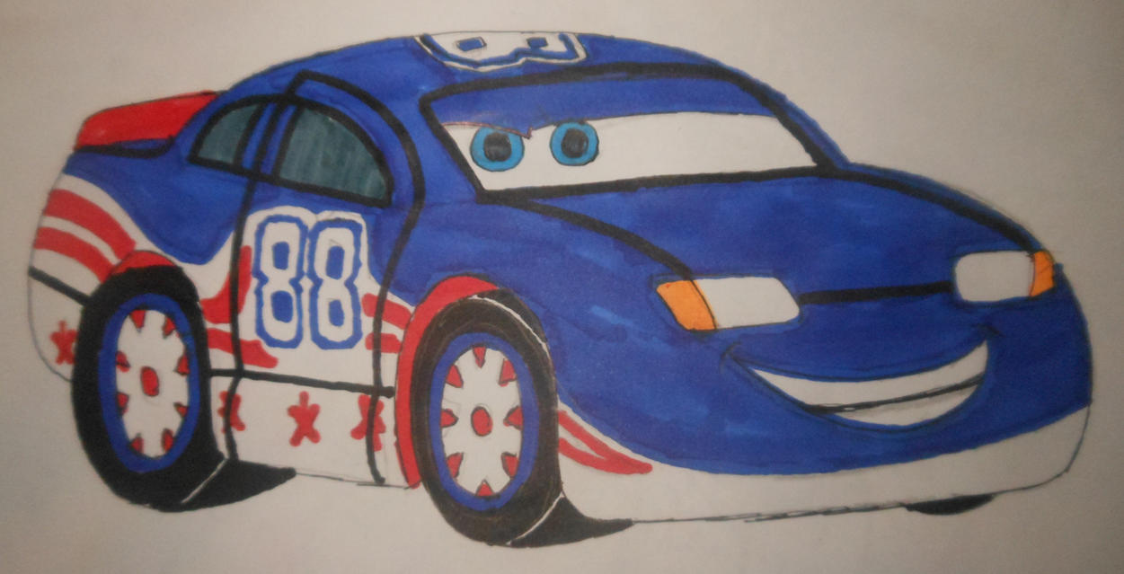 Roary the racing car: Tin Top Pixar's Cars style by sgtjack2016