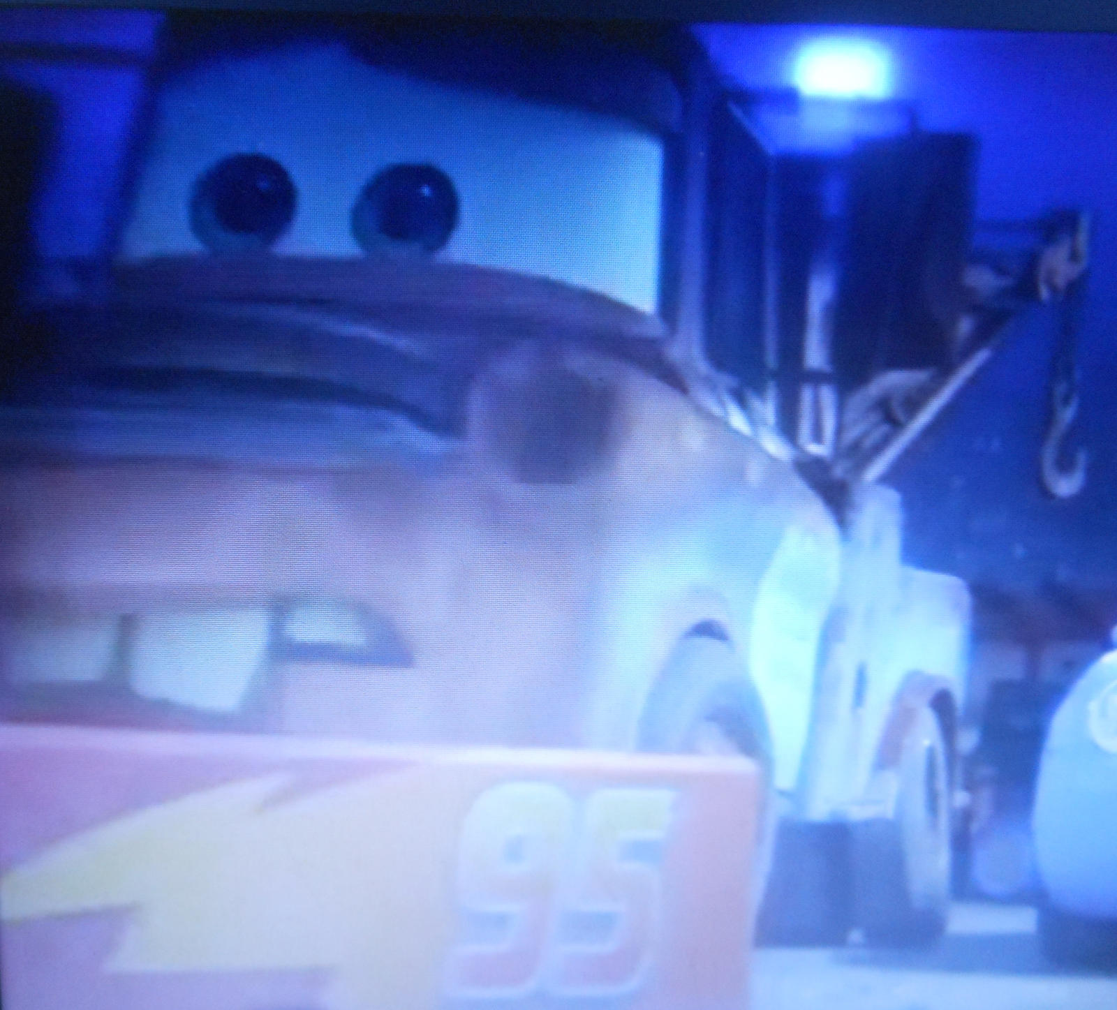 Cars 3 Mater watches Lightning Mcqueen crash. by sgtjack2016