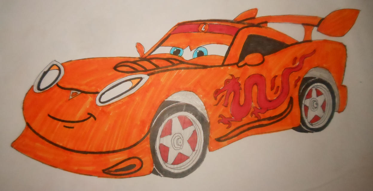 Roary the racing car: Drifter Pixar's Cars style by sgtjack2016