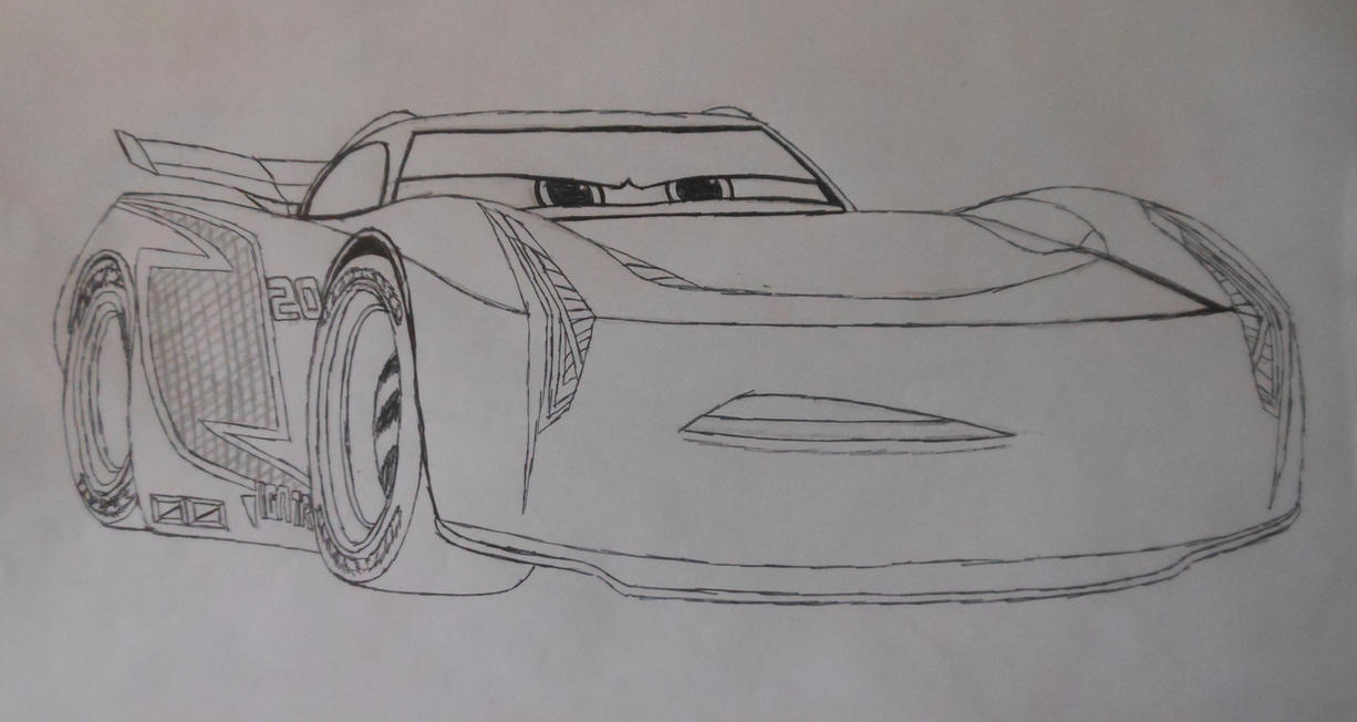 Cars 3 Jackson Storm colouring sheet by sgtjack2016
