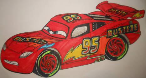 Cars 3: custom Lightning McQueen
