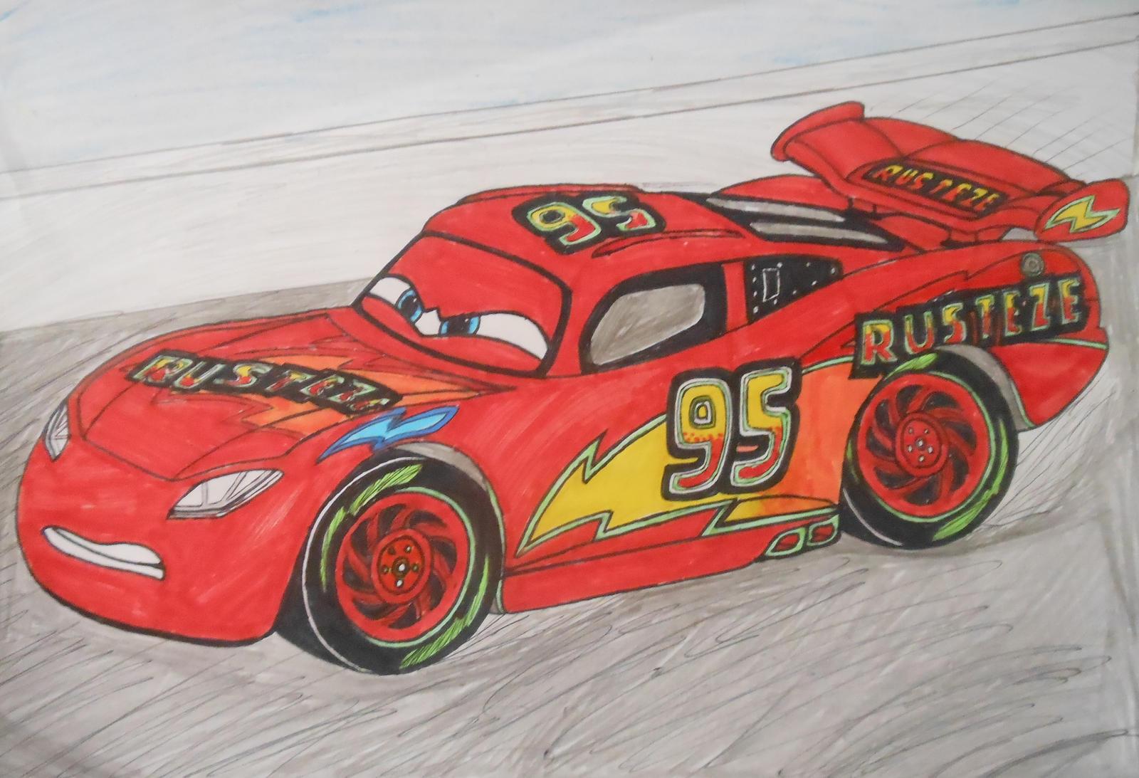 Cars 3 Custom Lightning Mcqueen On Race Track By