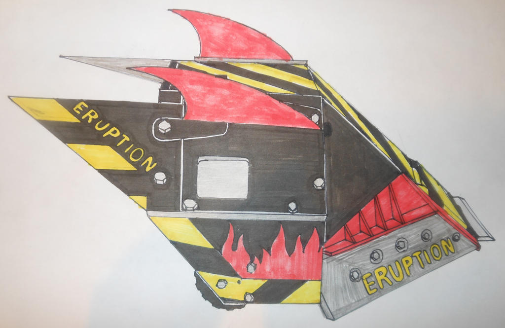 Robot Wars Series 10 Eruption side view by sgtjack2016