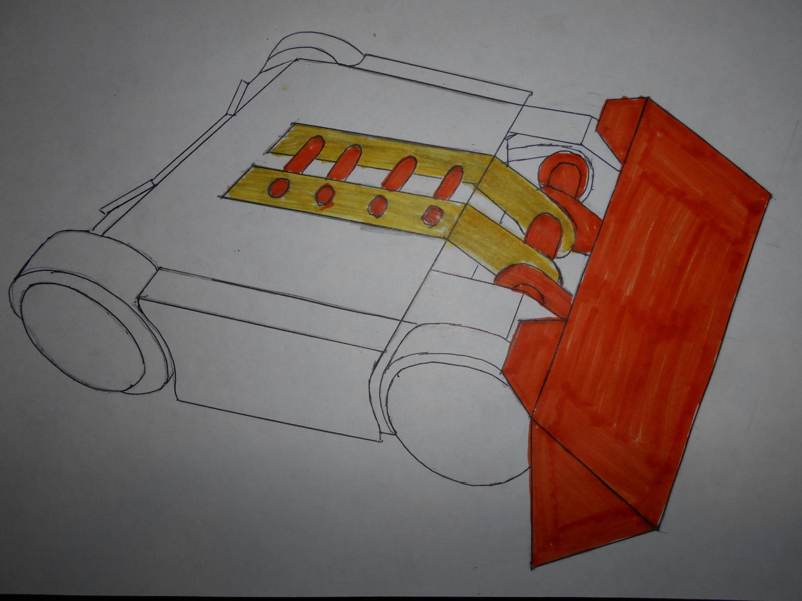 Robot Wars: King Buxton 20 Anti-Spinner wedge by sgtjack2016