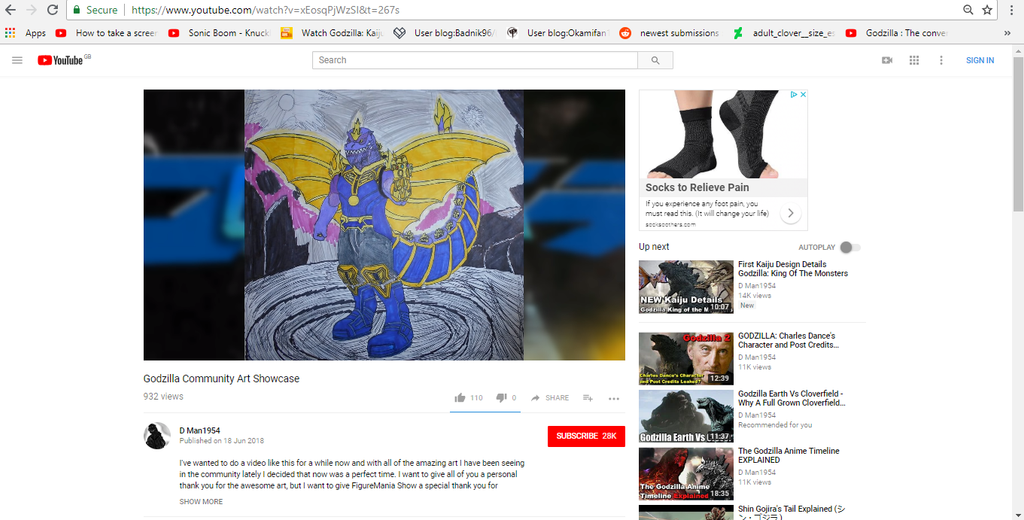 D Man1954 featured my Thanos-Godzilla in a video by sgtjack2016
