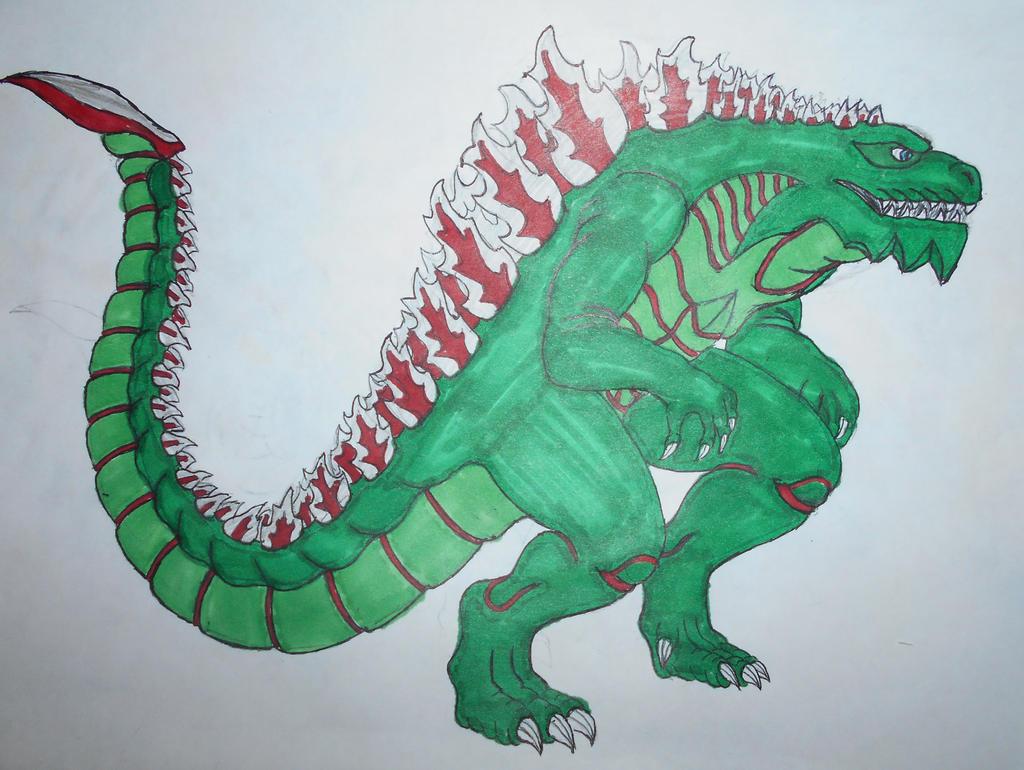 Godzilla (1998) redesign (2.0) by sgtjack2016