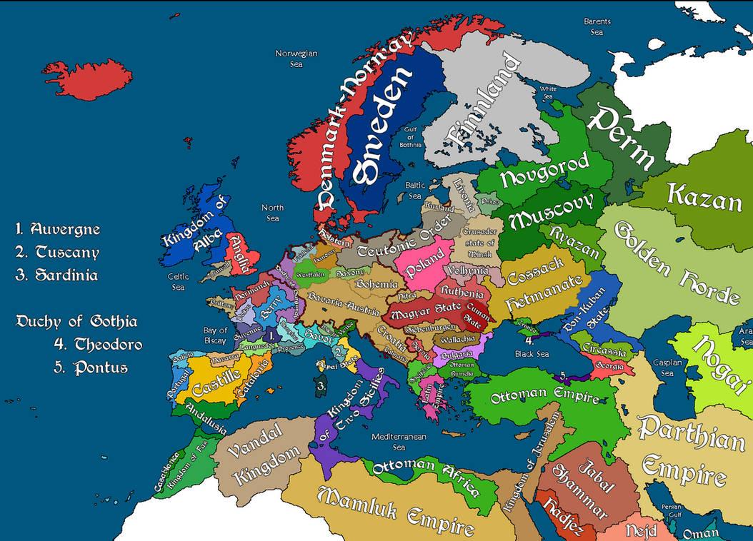 Europe 1500 by FictionalMaps on DeviantArt