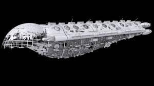 Reaver Galleon Ship wip 2