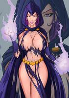 FANART COMMISION... Raven DC Comics by ngtvisualstudio
