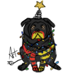 Fribble Christmas Pug by DaggarHeart
