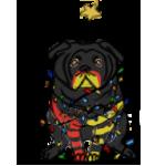 Fribble Christmas Pug by DaggarHeart