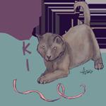 Tag Cat Ribbon by DaggarHeart