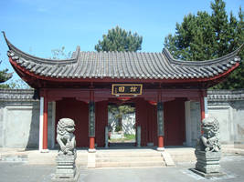 Chinese Temple - stock by Deorsa