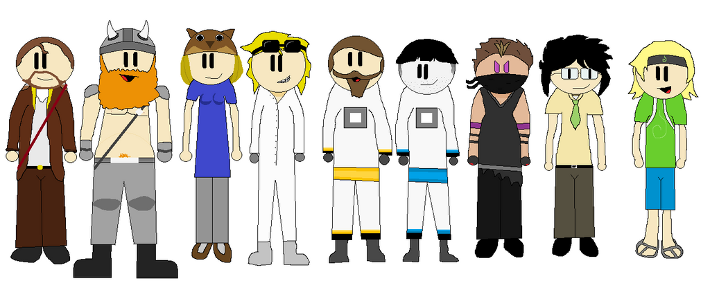 Main Yogscast Members Neutral Pose by chazstudios101