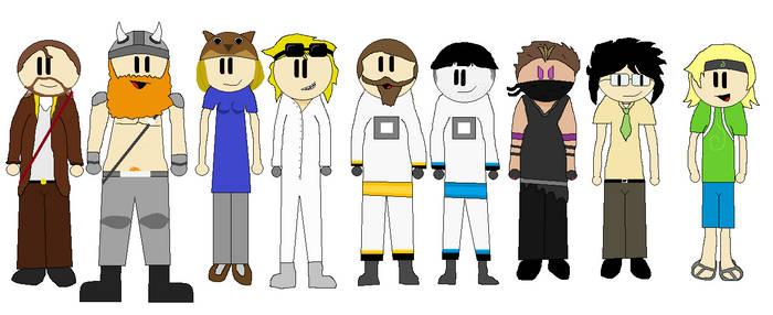 Main Yogscast Members Neutral Pose