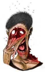 Zombie head 03 by Pino44io