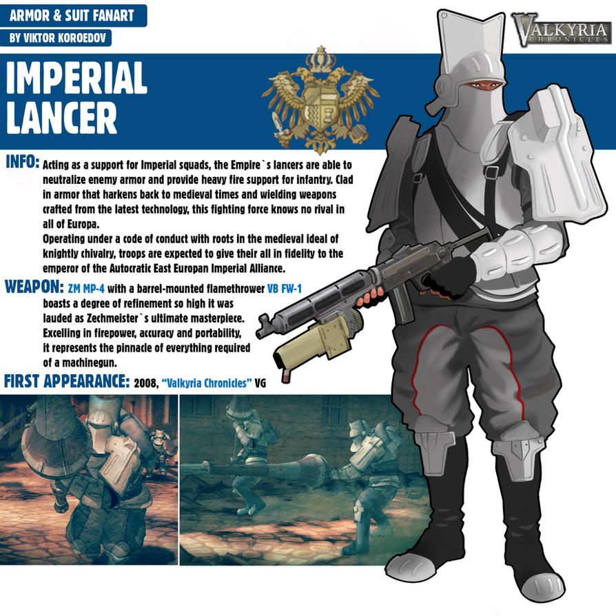 Imperial Lancer|Valkyria Chronicles by Pino44io